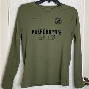 Olive Green Long Sleeve Boys Abercrombie & Fitch!!